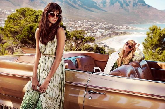 4G by Gizia spring / summer 2015 campaign - Vintage Classic Cars and Girls
