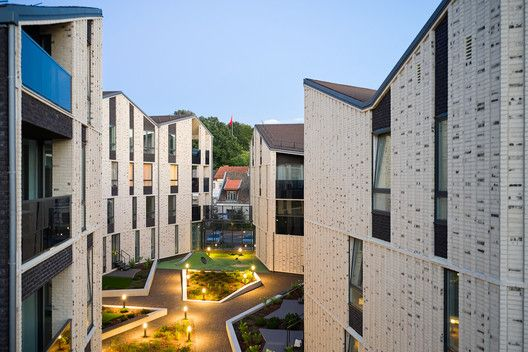 Gallery Of Paupys Yards Housing Complex Arches 31 Roof Cladding Yard Complex