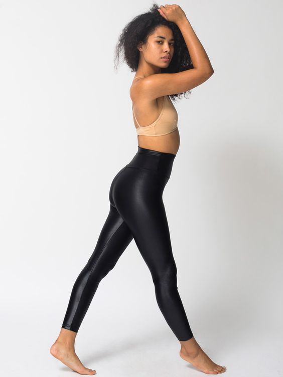 American Apparel High Waisted Leggings - Trendy Clothes