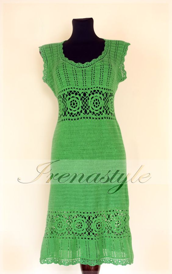 Wow - that's talent! Wish I could have one. Crochet Dress   custom made hand made crochet  100 by Irenastyle, $499.00