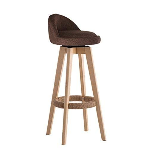 Yzh Nordic Personality Bar Chair Chairs Stools Solid Wood Bar Restaurant Cafe High Stool High End Atmosphere Chair Stool 07 Home Bar Furniture Bar Furniture Colorful Furniture