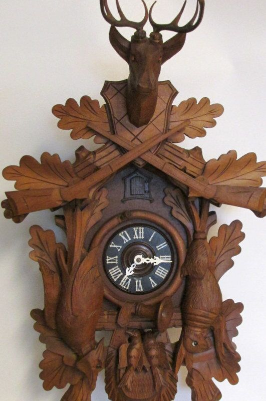 8 Day Hunters Style Cuckoo Clock E By Creeklifetreasures