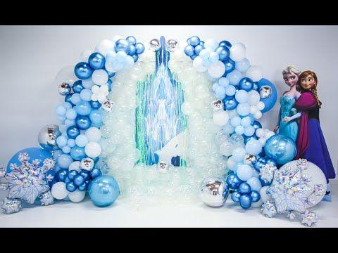 Frozen 2 Themed Party Event Design Set Up Frozen Backdrop Garland Frozen Party Decorations Frozen Balloon Decorations Frozen Theme Party Decorations