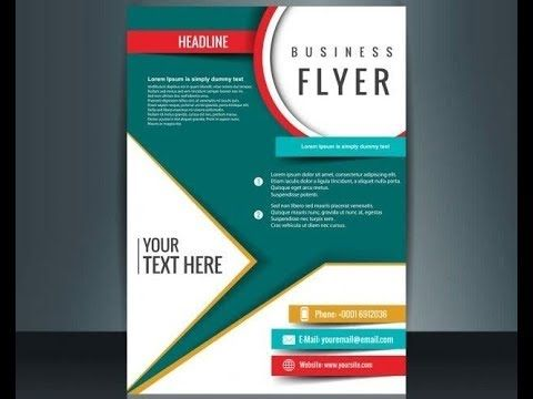 How To Make Flyer Brucher Poster In Corel Draw Youtube Make A Flyer Corel Draw Tutorial Flyer