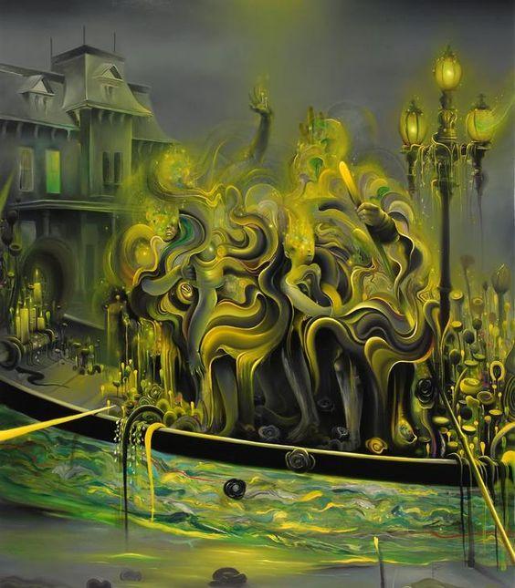 Norte americano Michael Page, residente em São Francisco (Califórnia), busca com suas pinturas um peculiar sentido alucinógeno. http://www.cannaclub.com.br/2014/01/pinturas-alucinogenas-de-michael-page.html