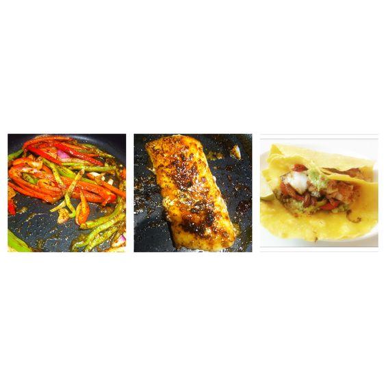 Grilled fish taco cod corn tortilla guacamole saut ed for Fish tacos cod