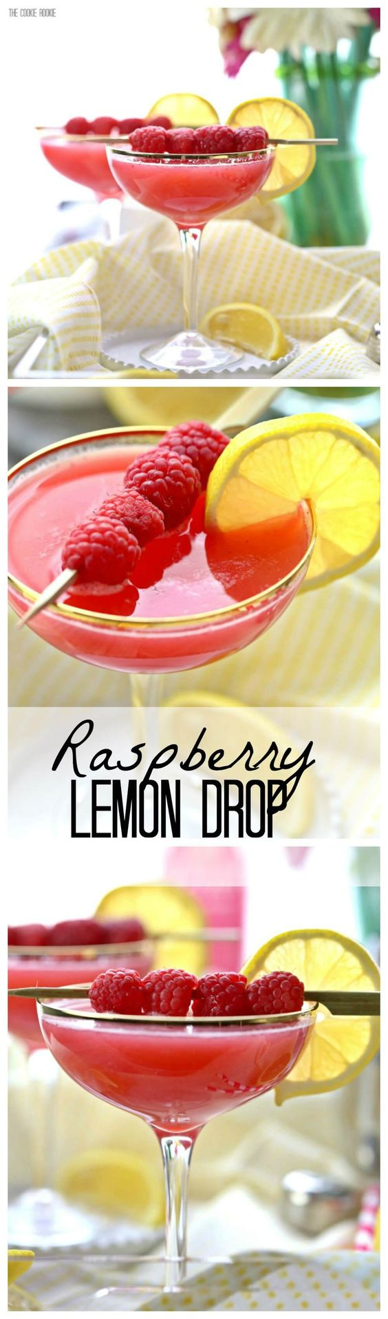 There's nothing better than a sweet Raspberry Lemon Drop Martini! Easy to make and perfect for Spring and Summer! Favorite Cocktail!!
