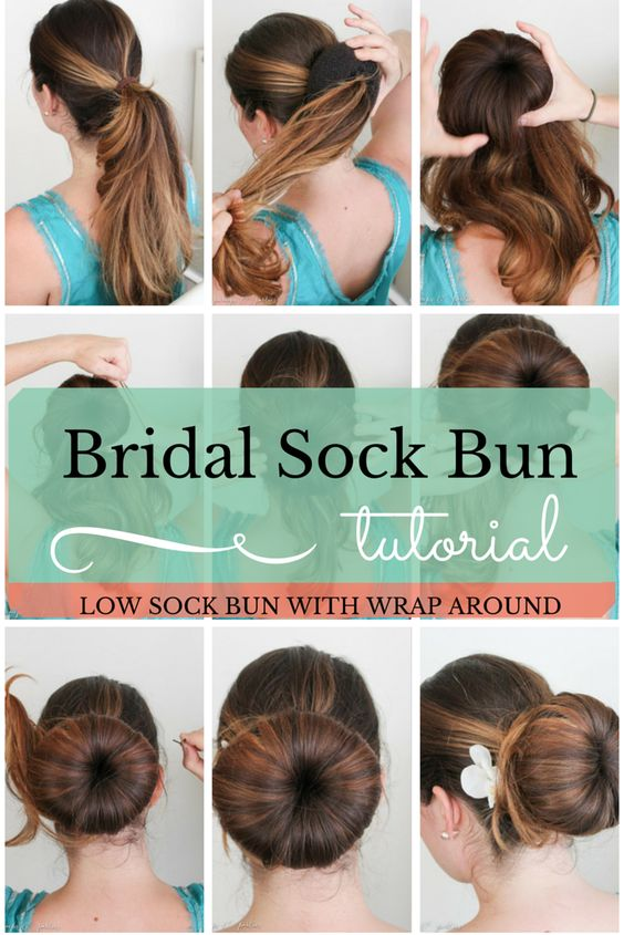 Bridal Hair: Low Sock Bun Easy How To. Subscribe/Follow Pumps & Parties Lifestyle blog for more beauty tutorials, recipes, diy, and fashion!  www.pumpsandparties.com  #pumpsandparties