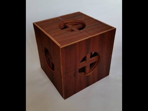 Insanely complicated wooden puzzle box - YouTube