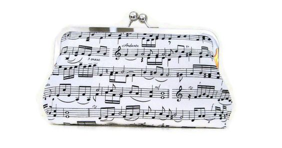 CLUTCH PURSE Sheet Music or choose your own fabric. $35.00, via Etsy.