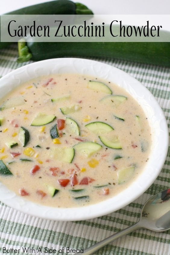 Chowders, Zucchini and Gardens on Pinterest