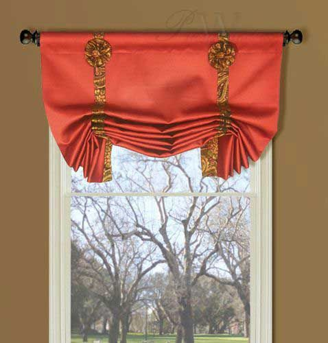 Curtains Ideas butterfly valance curtains : Polished Cotton Ring Style London Valance with Detachable Bows ...