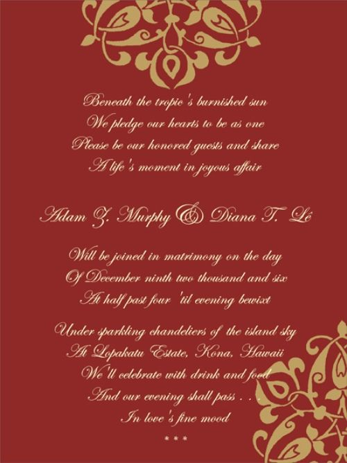 christian wedding invitation wording | Wedding invitation ...