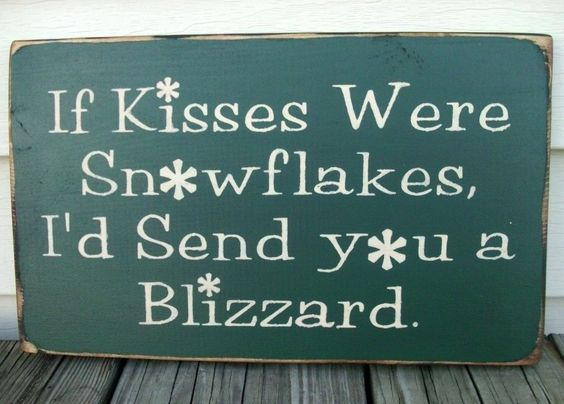 A blizzard of snowflakes