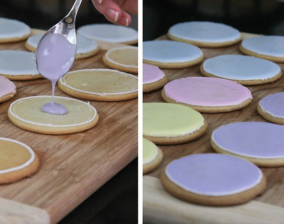 How to neatly frost cookies! We will need this sister! Great instructions for thin decorative frosting! :-D
