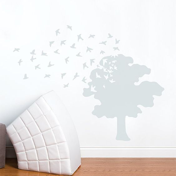 Tree+of+Life++Wall+Decal++Light+Grey+by+ADzif+on+Etsy,+$48.00