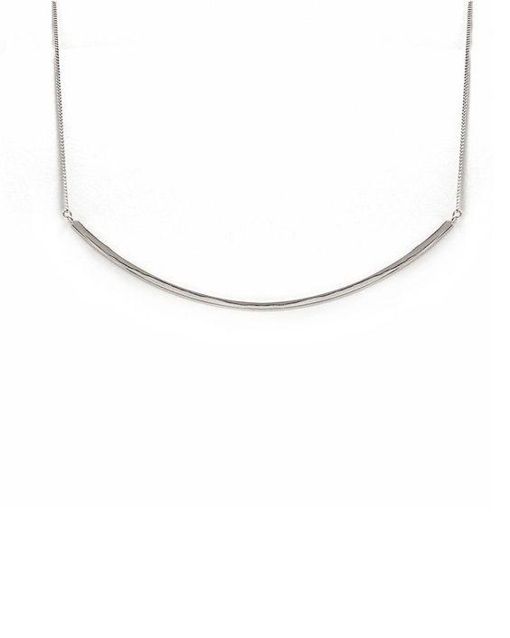 Melanie Auld | Bar Collar Necklace Silver