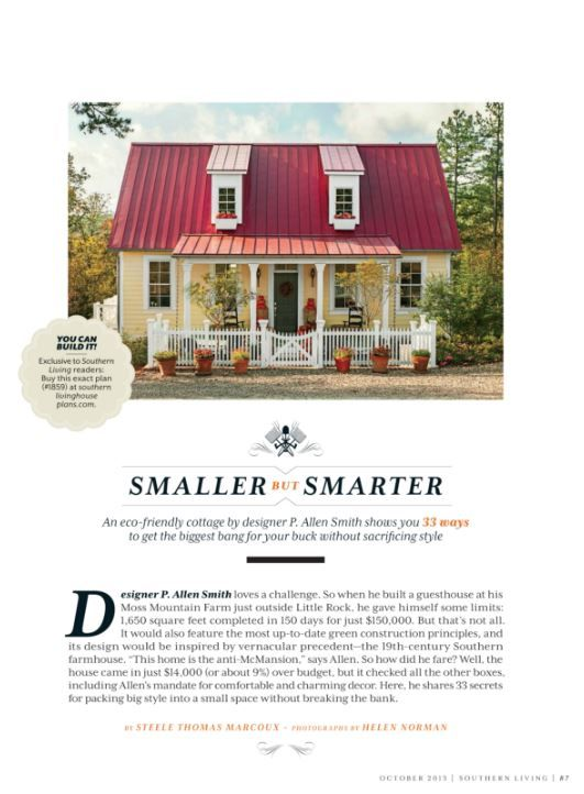 P. Allen Smithu0027s Garden Home Cottage | House Plans | Pinterest | Southern  Living, Southern And Gardens