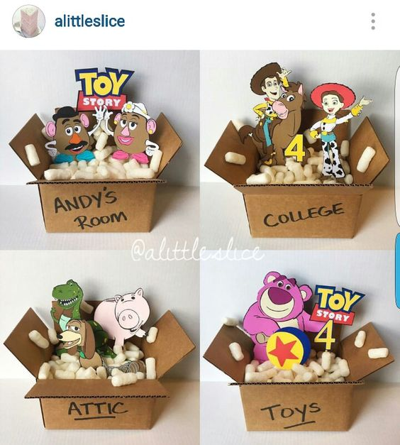 Toy Story Birthday Party Centerpieces follow @alittleslice on Instagram