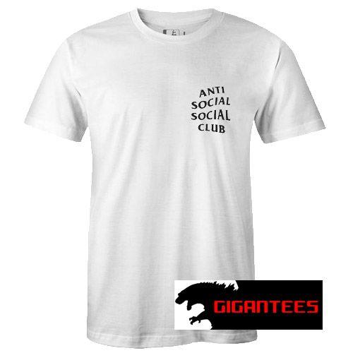 Anti Social Club Pocket Design T Shirt Giganteeshirt Shirts T Shirt Shirt Website