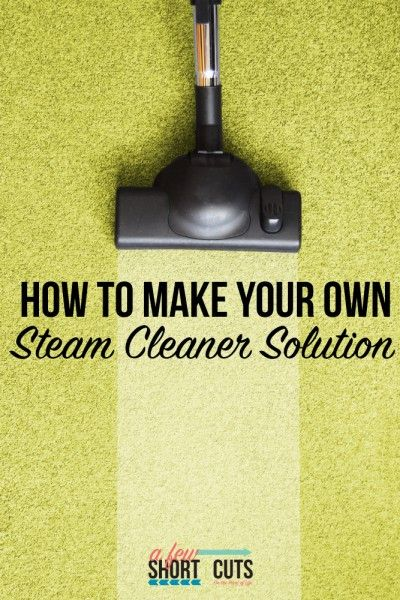 How To Make Homemade Steam Cleaner Solution Soaps