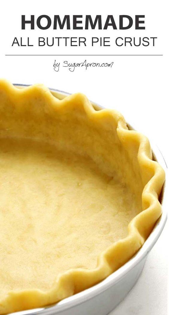 All Butter Pie Crust   Recipe   All Butter Pie Crust, Butter Pie ...