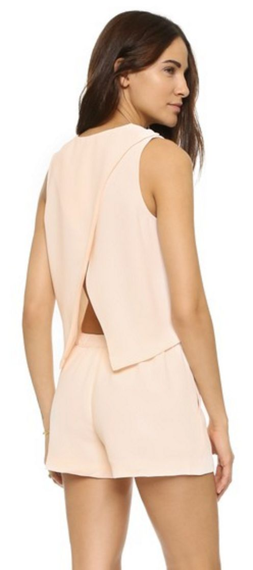 Club Monaco Pale Pink, Open Back Romper