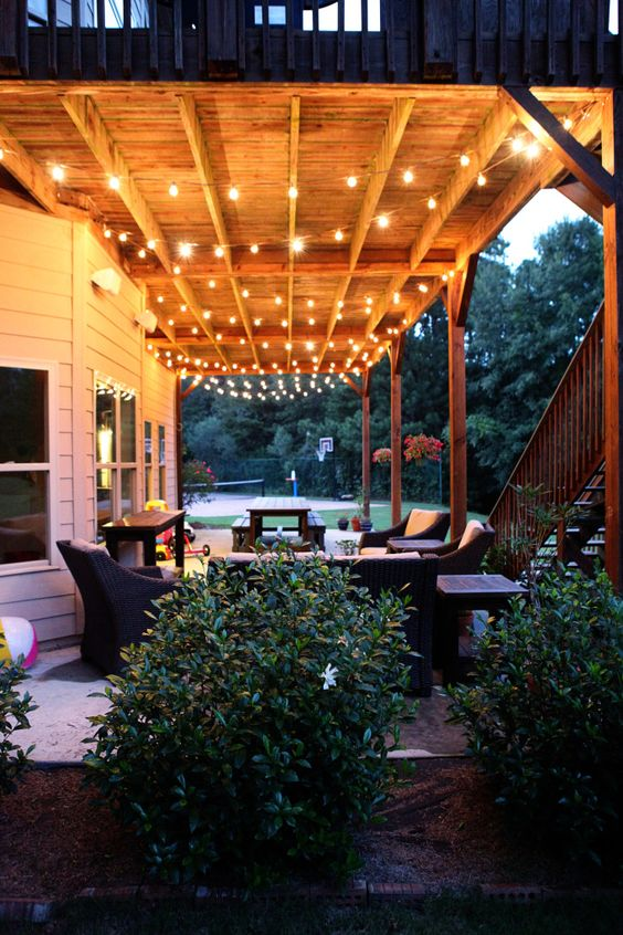 Outdoor living, Lighting and String lights on Pinterest