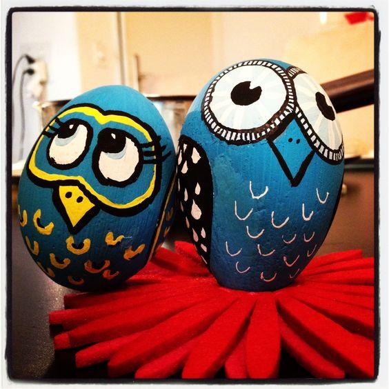 Eggs Owl And Easter On Pinterest