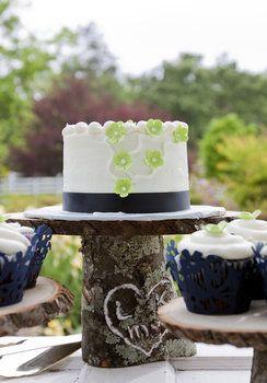 Wedding, Reception, Cake, Blue, Rustic, Cakestand
