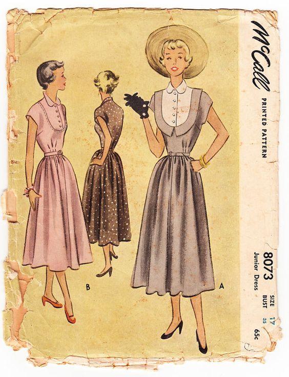 Vintage 1950 McCall 8073