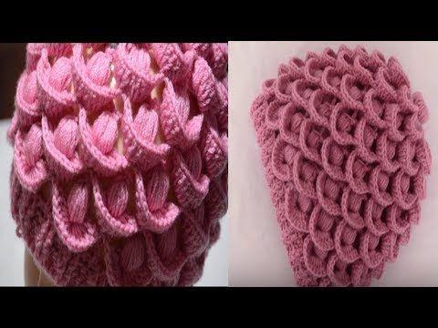 كروشيه طاقيه بغرزه ريش الطاووس بطريقه سهله وجميله فنون الكروشيه Youtube Crochet Hats Crochet Hats