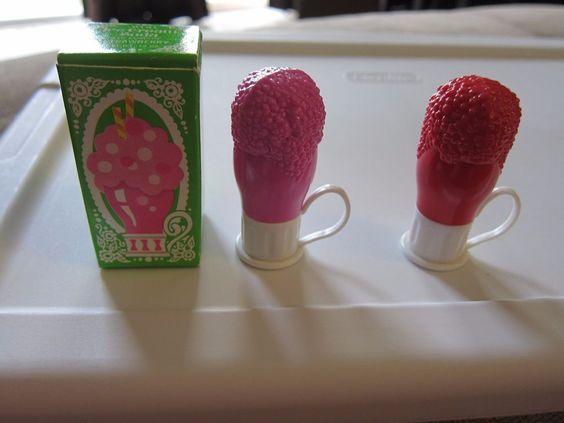 Vintage AVON ICE CREAM SODA Lip Pomade LOT of 2 Lip Glosses 1974