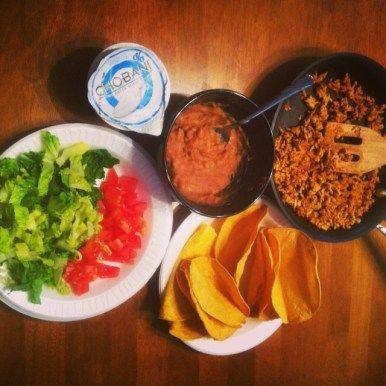 Homemade taco shells & taco sauce
