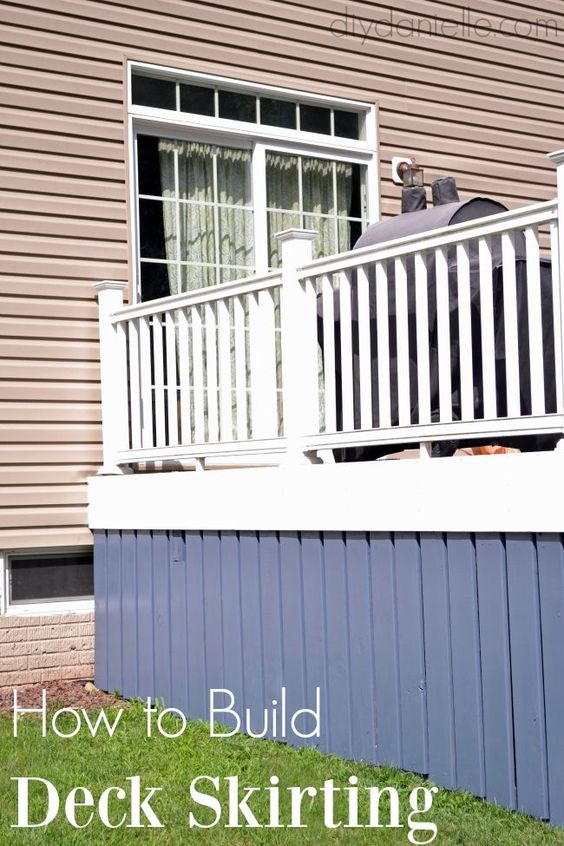 Diy deck skirting deck skirting decks and diy deck for Alternative to decking