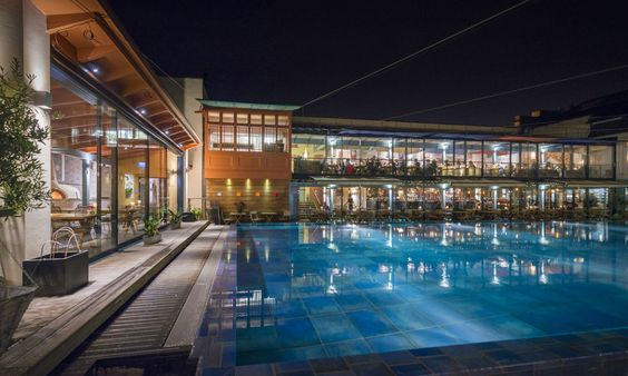 Lido Poolside at Night