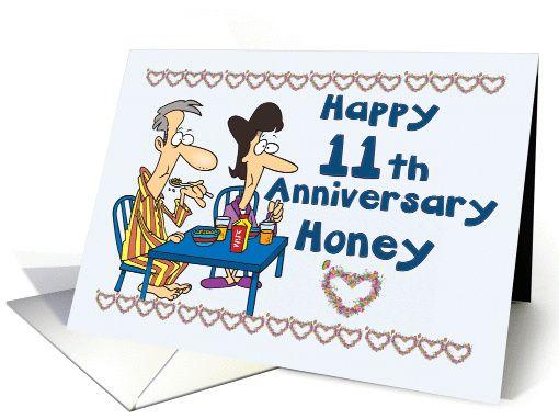 Happy 11th Anniversary Honey Couple Eating Breakfast 924888 Happy 11th Anniversary 11th Wedding Anniversary Gift 11th Anniversary