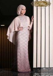 Khalisa Dress Gaun Pesta Mewah Peach: Dress Gaun, Khalisa Dress, Pesta ...