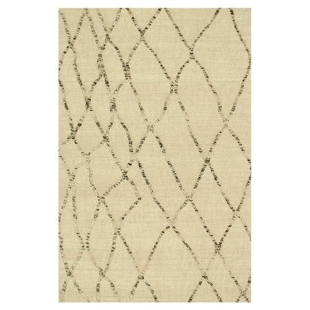@Justine Stuckenschneider Hand-woven wool rug.  Product: RugConstruction Material: 100% WoolColor: White sandFeatur...