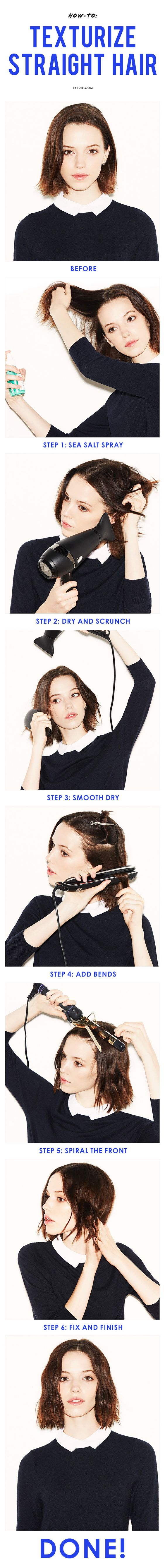 How to add serious texture to stickstraight hair discount codes