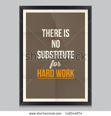Work quote poster by Thomas Edison. Effects poster, frame, colors background and colors text are editable. Ideal for print poster, card, shirt, mug. - stock vector
