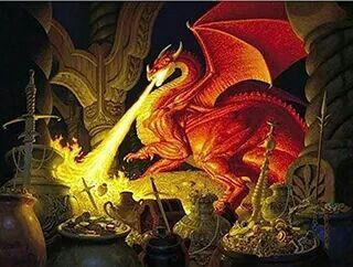 Original illustration of Smaug