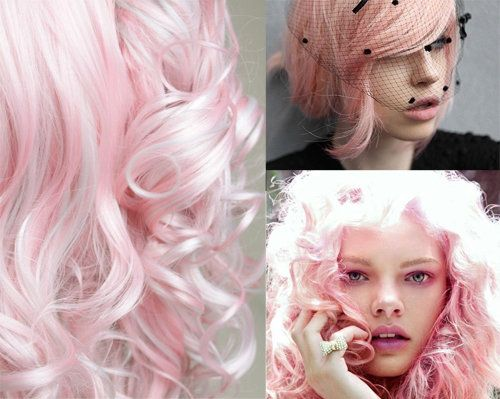 pastel pink cotton candy hair