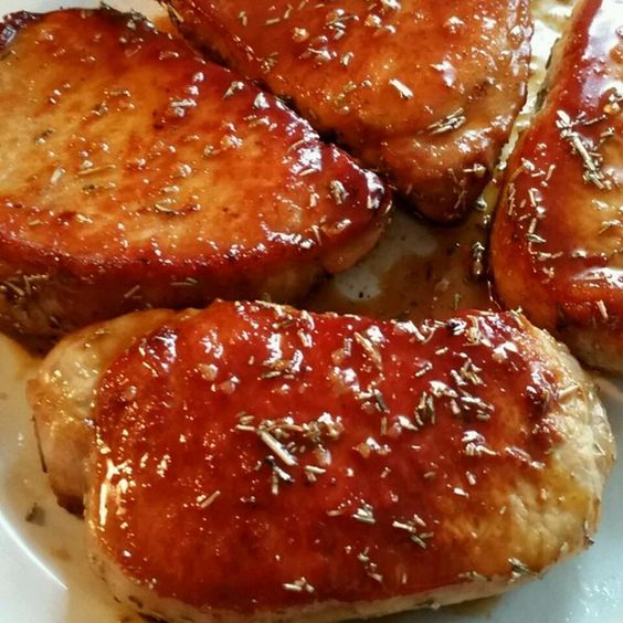 "Pork Chops with Apple Cider Glaze I ""These pork chops were DELICIOUS ..."
