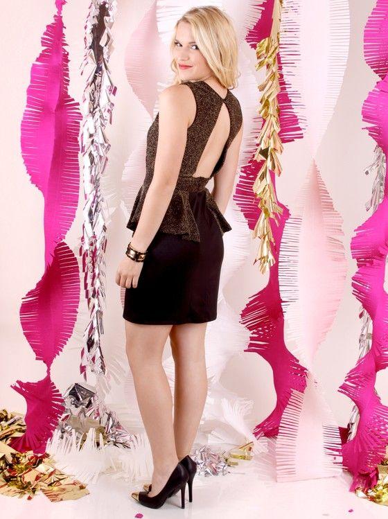 Sheer Glam Peplum Dress   Hello, Holidays! FrockCandy.com Winter 2012 Lookbook