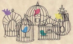 Beautiful Birdcages | Urban Threads: Unique and Awesome Embroidery Designs