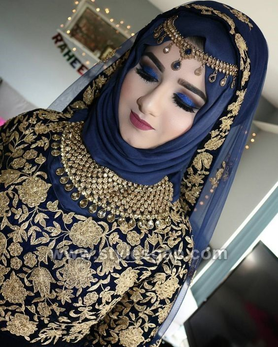 Latest Bridal Hijab Styles Dresses Designs Collection 2017-2018 (10)