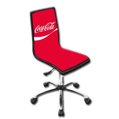 Red Wave Coca Cola Office Chair Coca Cola Pinterest