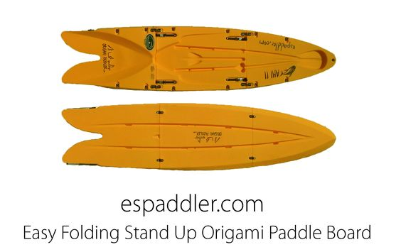 Easy Folding Stand Up Origami  Paddle Board. From: http://www.espaddler.com/