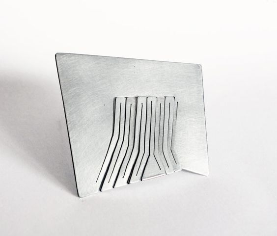 Despina Pantazopoulou  - ARSIS-THESIS  Brooch. Silver 925. Hand fabricated, pierced.: